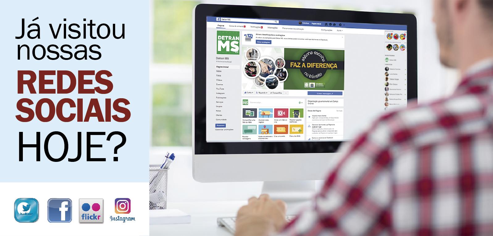 Siga o Detran nas Redes Sociais e fique por dentro de nossos serviços e notícias